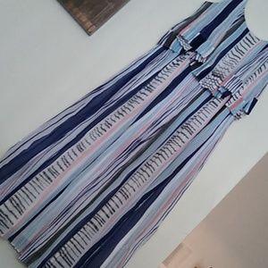 Watercolor Lines Dress
